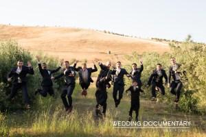 Groomsmen fun at Indian wedding