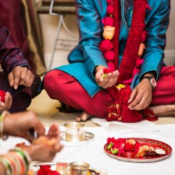 Neena-Chintan-Indian-wedding-venue-Hotel-Irvine-wedding-ceremony-groom-pooja