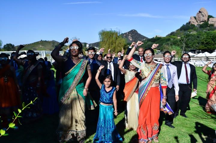 Rakhee-Amrish-gift-exchange-Indian-wedding-venue-photography-Greycard-Hindu-outdoor-dresses-bride-groom-vineyard-South-Asian-wedding-vidai-dance