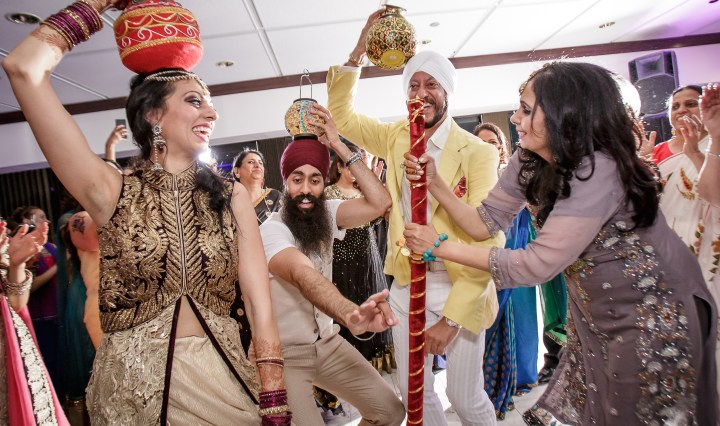 Sikh bride during jaago