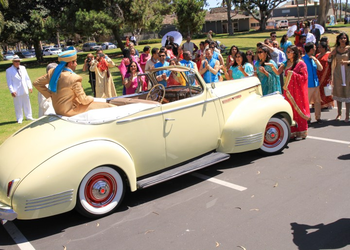 Unique car baraat for an Indian wedding