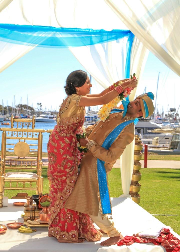Ashmi-Suraj-Indian-wedding-venue-baraat-Hindu-Jain-San-Diego-varmala-ceremony