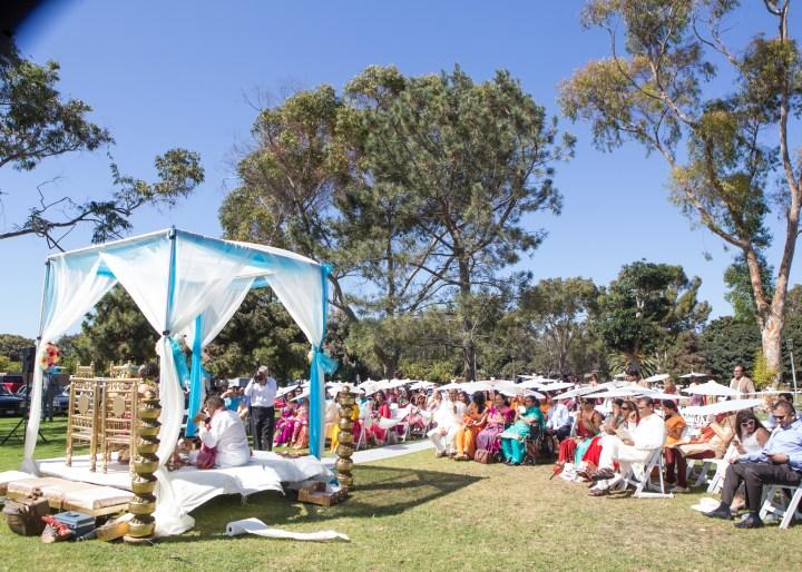 Ashmi-Suraj-Indian-wedding-mandap-varmala-San-Diego-outdoors-San-Diego