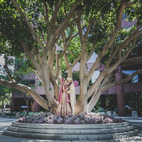 The couple's pre-ceremony photoshoot at the Hilton Orange County/Costa Mesa.