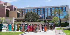 Indian wedding baraat at the Hilton Costa Mesa Orange County