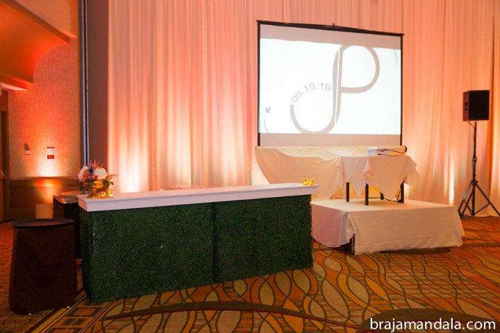 Personalized logo at Indian wedding
