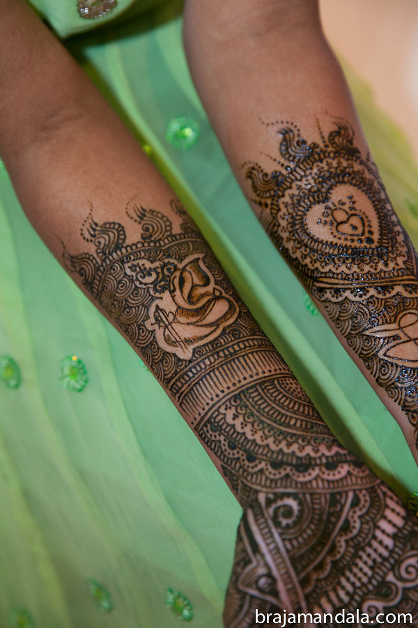 Indian bride's mehndi