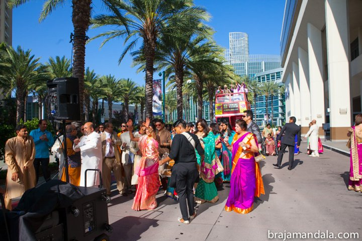 Indian wedding baraat at the Hilton Anaheim