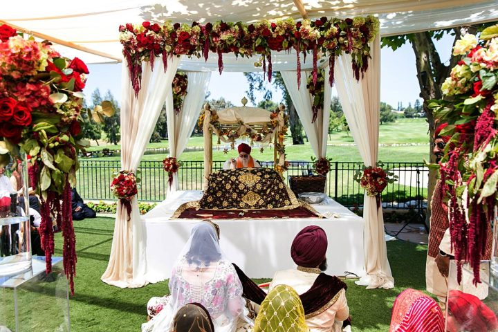 Sikh wedding at Porter Valley Country Club.