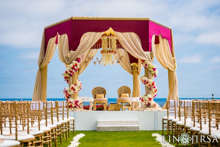 Indian wedding mandap at Montage Laguna Beach