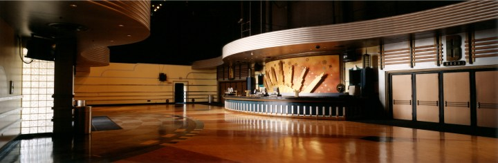 The lobby at the City National Grove of Anaheim.