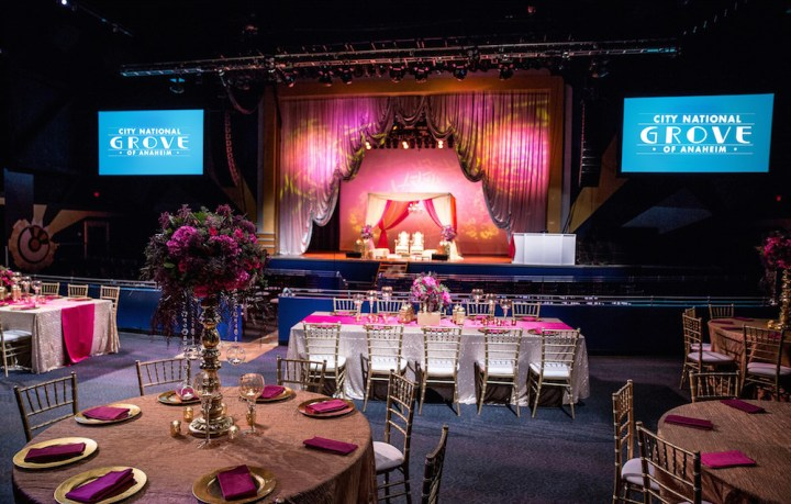 An Indian wedding reception at the City National Grove of Anaheim.