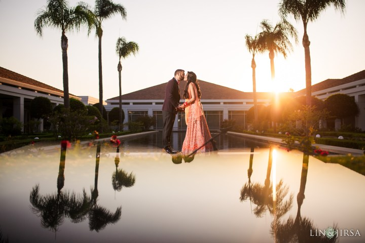 Romantic Indian wedding couple photo on their wedding day
