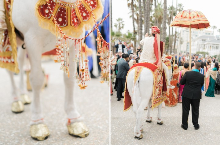 Indian wedding baraat in Santa Monica