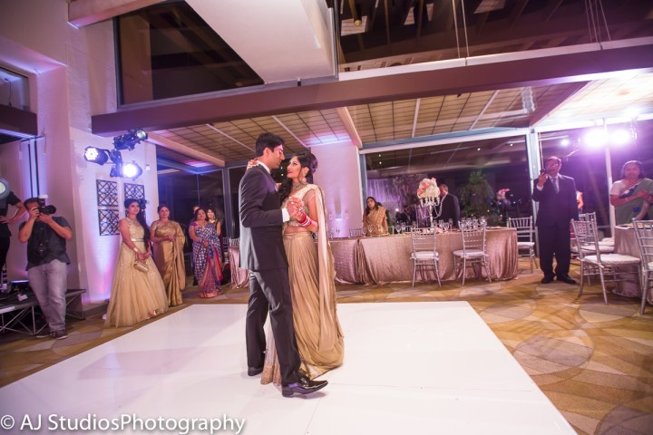 Indian wedding reception at Tustin Ranch Golf Club