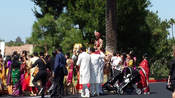 Indian wedding baraat at Tustin Ranch Golf Club