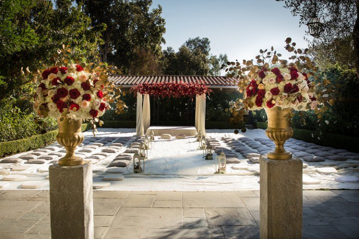 Outdoor Anand Karaj wedding ceremony in Southern California.