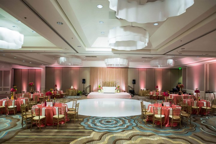 Indian wedding reception at the Crowne Plaza Redondo Beach