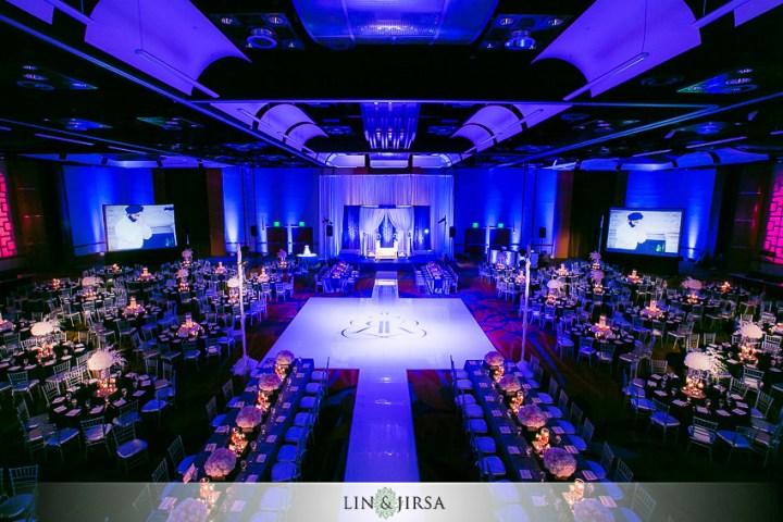 Indian wedding reception at the Hyatt Regency Orange County