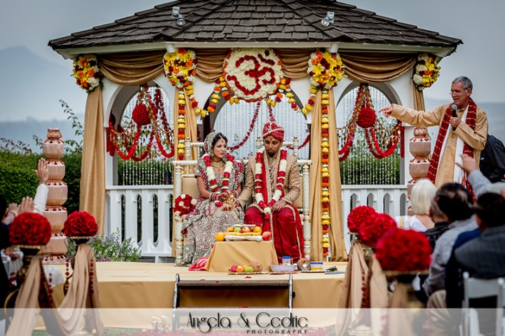 Indian wedding in the Garden Gazebo venue at Pacific Palms Resort
