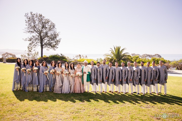 Indian wedding bridesmaids and groomsmen