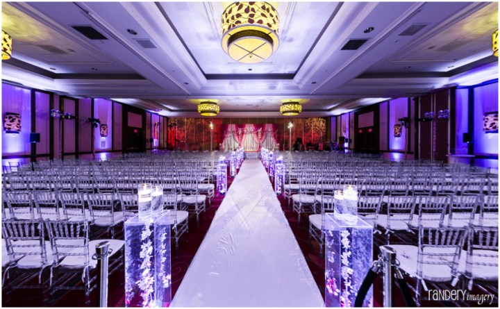 Indian wedding ceremony at a hotel with ghose chiavari chairs