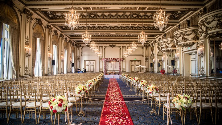 Indian wedding in the Gold Room at the Fairmont San Francisco
