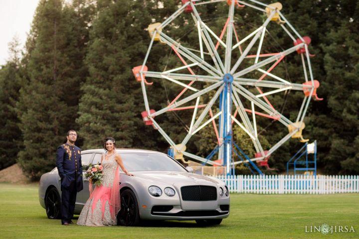 Indian wedding couple's photo session at Calamigos Ranch