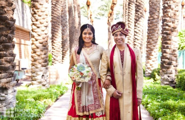 Indian couple before their wedding ceremony at Hyatt Regency Scottsdale Resort & Spa