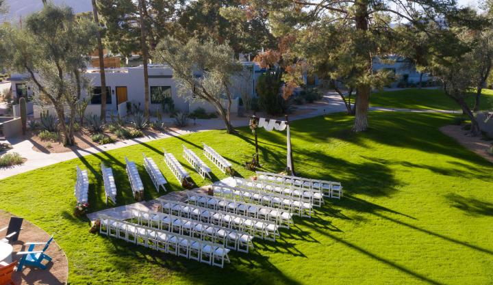 Andaz Scottsdale Resort & Bungalows outdoor wedding ceremony