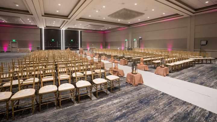 Hyatt Regency San Francisco Airport indoor wedding ceremony