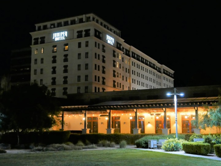 Juniper Hotel at night