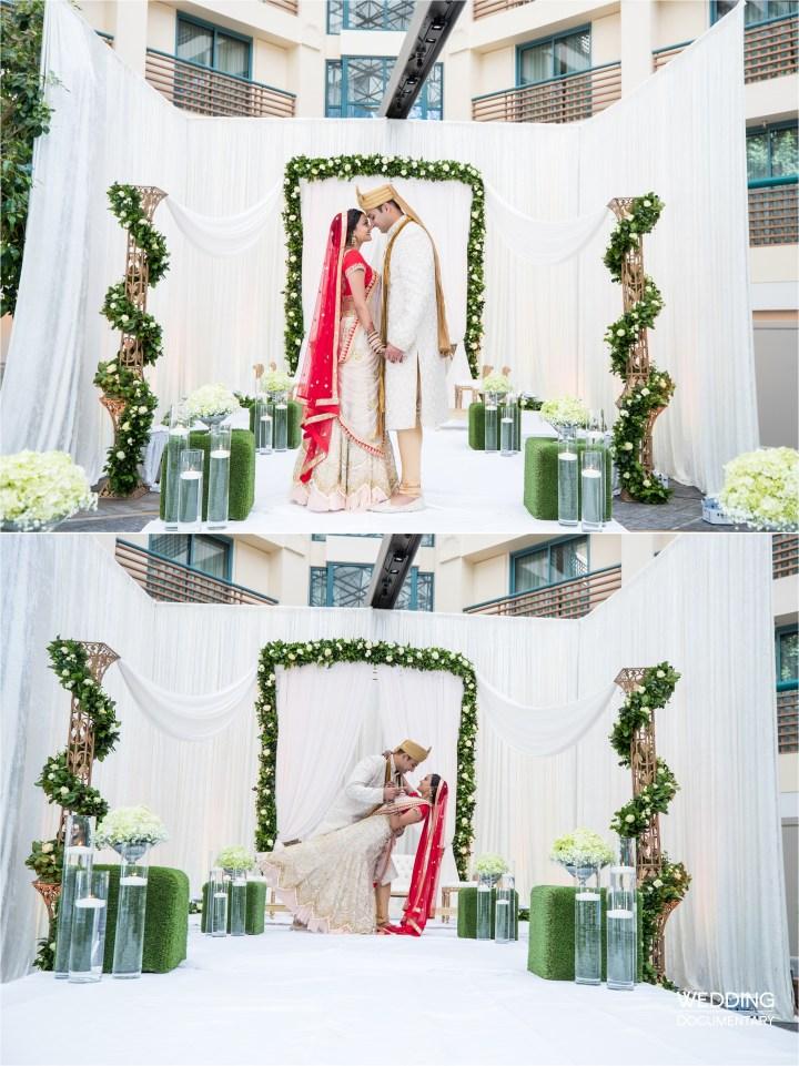 Indian wedding mandap Hyatt Regency San Francisco Airport