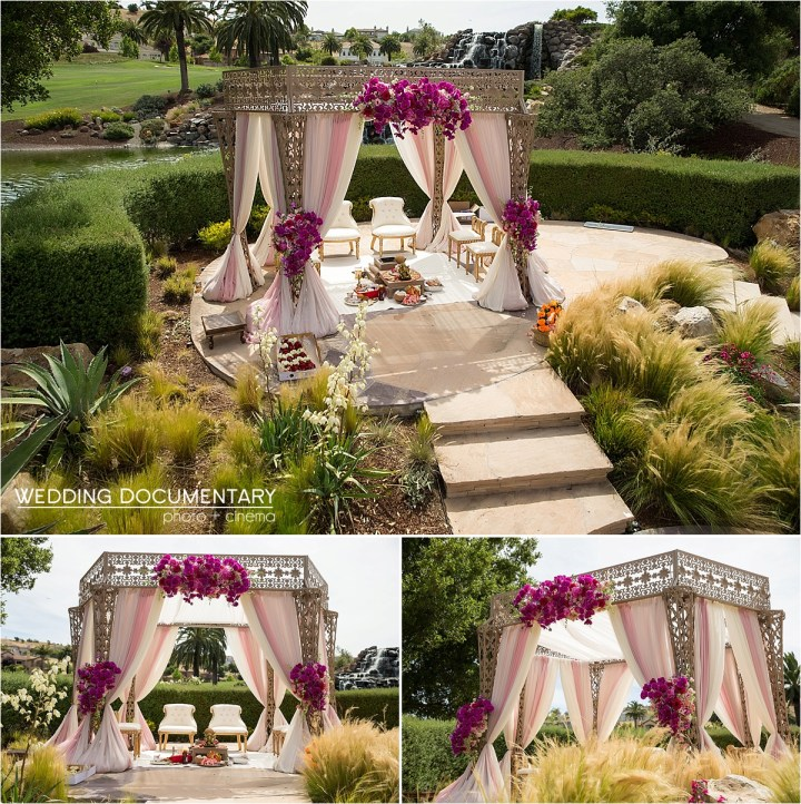 Indian wedding ceremony Mandap Silver Creek Valley Country Club