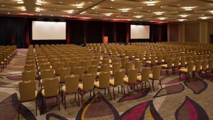 Event setup with standard banqyet chairs at the Hyatt Regency Sacramento