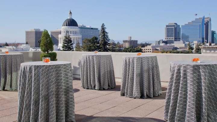 Outdoor cocktails at the Hyatt Regency Sacramento