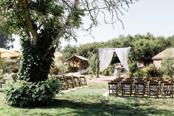 Wedding ceremony at La Arboleda