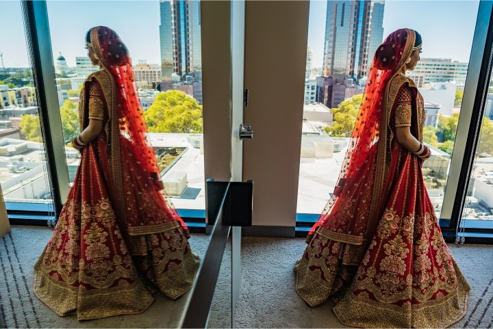 Indian bride wearing lehenga