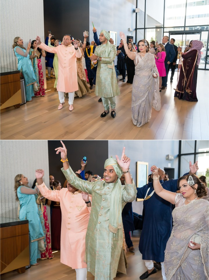 Indian wedding baraat at the Sawyer Hotel in Sacramento