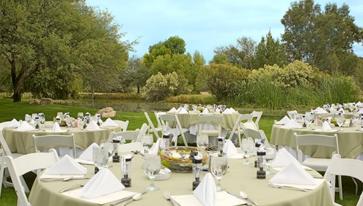 Outdoor banquet at La Mariposa Resort in Tucson
