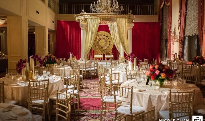 Indian wedding reception at The Newbury Boston