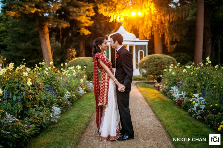 Indian wedding at Glen Magna Farms Massachusetts