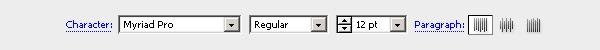 Тулбар Type Tool