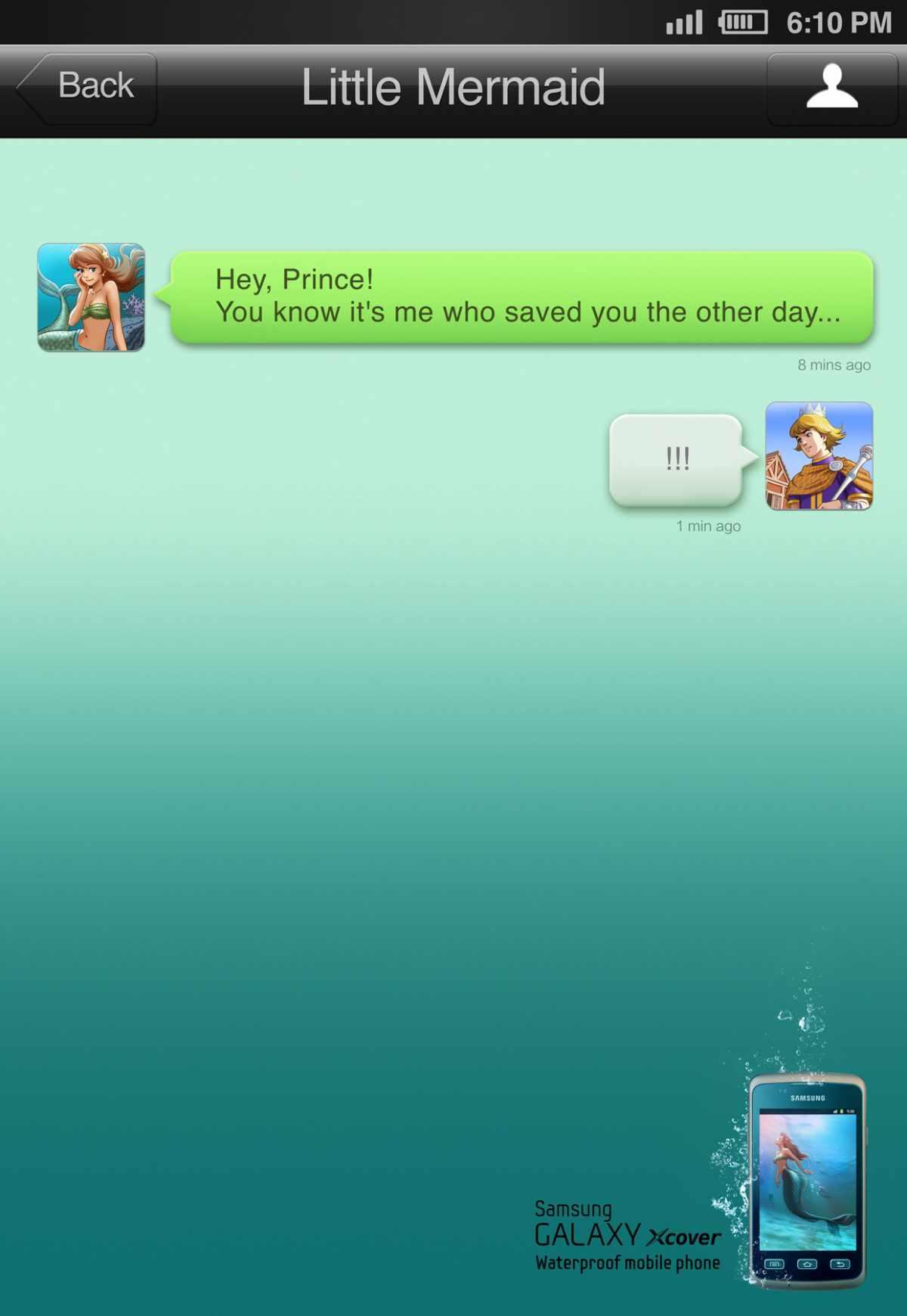 samsung-waterproof-phone_the-little-mermaid
