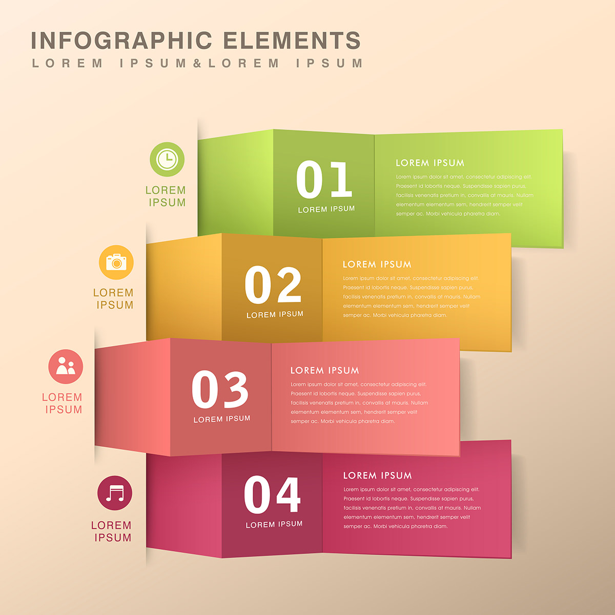 modern vector abstract origami banner infographic elements