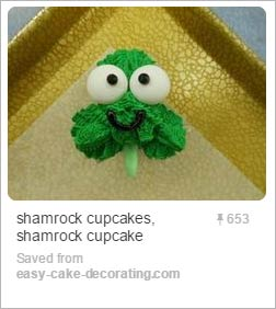 green shamrock-shaped cupcakes