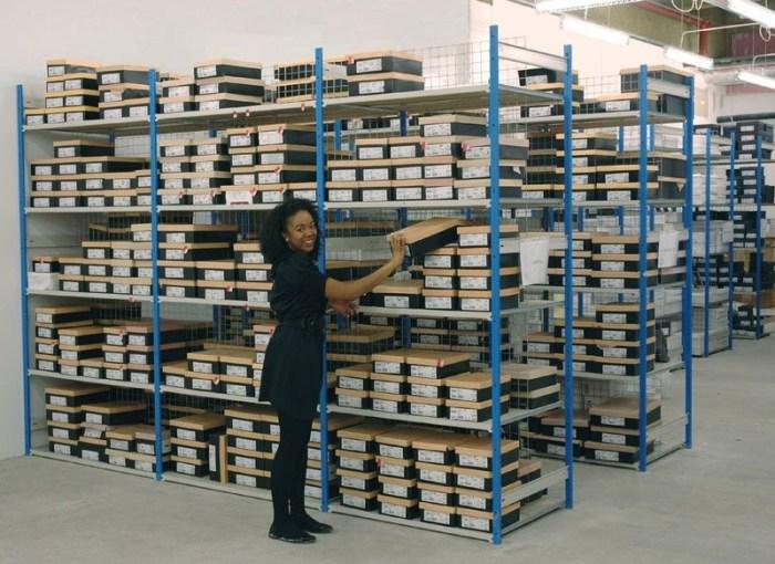 stockroom shelving