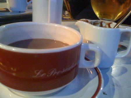 """Le President"" à #Lille : du vrai chocolat chaud :) mmmmhhhh"