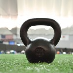 The infamous Kettlebell. A great tool (when used properly) for building a high level of total body strength.