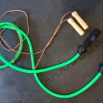"""This picture shows the """"heavy"""" and """"light"""" jump ropes referred to in the circuit."""